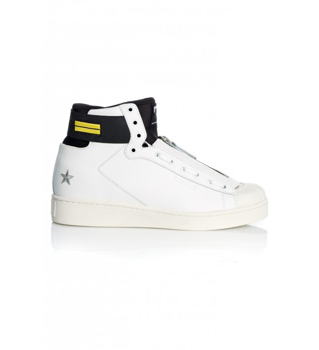 MITTE HIGH TOP LEATHER WHITE