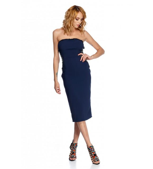 CATHERINE DRESS BLUE