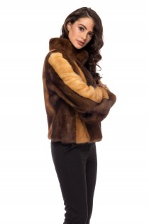 JACKET MINK MULTICOLOR SHORT