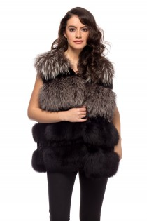 VEST PI BROWN MINK