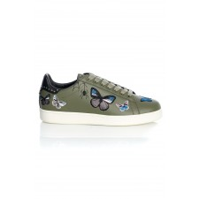 BUTTERFLY LEATHER MILITARY EMBROIDERY
