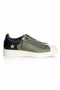 MITTE LEATHER MILITARY ZIP