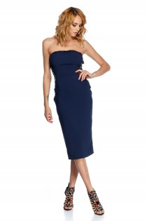 CATHERINE DRESS BLUE