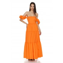 Lorette Orange Dress