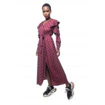 Star Burgundy Dress
