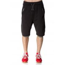 Pantaloni scurti negri, casual, pentru barbati