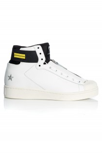 Sneakers Barbati Mitte High Top Leather White