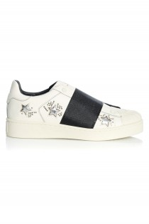 Sneakers Dama LA Leather White Stars