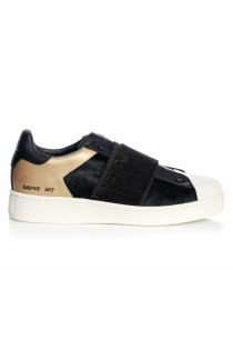 Sneakersi Dama Newman Leather Black Pony