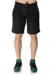 Pantaloni scurti negri pentru barbati, casual