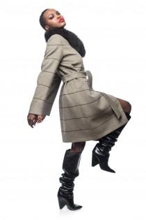 Palton Dama Xlarge Gray