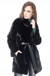 Modena Long Black Mink