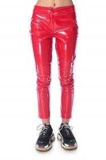 Pantaloni Latex Femei Lexy Red