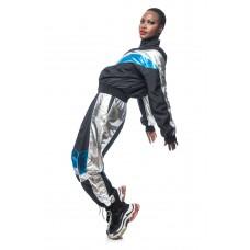 Pantaloni Metalic Blue