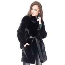 Modena Long Black Mink